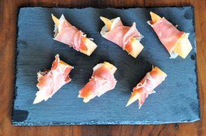 Serrano Ham Wrapped Canteloupe