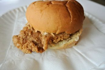 Indy Fried Pork Tenderloin Sandwich
